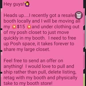 Getting ready to do a closet makeover..send offers